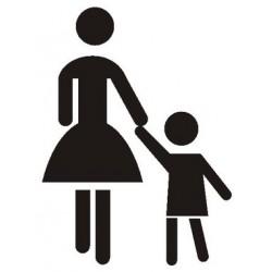 Szablon do oznakowania poziomego Matka z dzieckiem