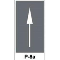 Szablon P8a Strzałka na wprost