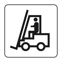 Szablon do oznakowania poziomego Wózek Widłowy Bhp