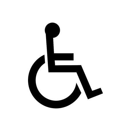 Szablon do oznakowania poziomego P-24 (inwalida)